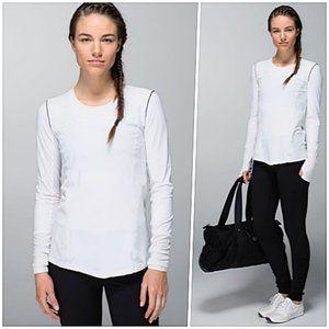 Lululemon UPF50+ Long Sleeve White 4 NWOT #PP26